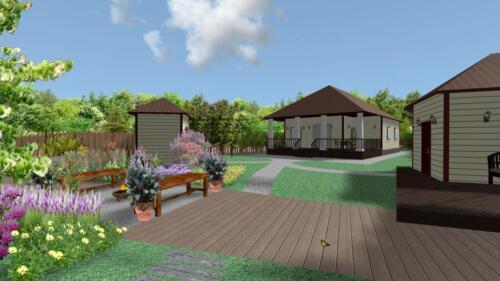 Вид в RealTime LandscapeDesign